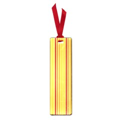 Red Orange Lines Back Yellow Small Book Marks by Mariart