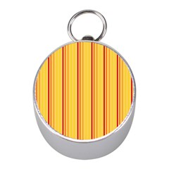 Red Orange Lines Back Yellow Mini Silver Compasses by Mariart