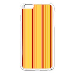 Red Orange Lines Back Yellow Apple Iphone 6 Plus/6s Plus Enamel White Case by Mariart