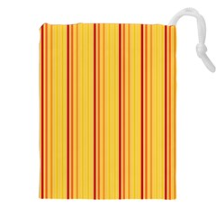 Red Orange Lines Back Yellow Drawstring Pouches (xxl) by Mariart