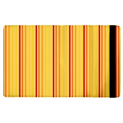 Red Orange Lines Back Yellow Apple Ipad Pro 12 9   Flip Case by Mariart
