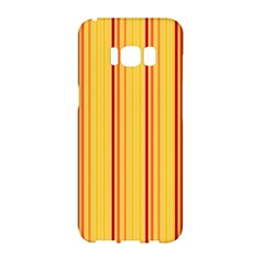 Red Orange Lines Back Yellow Samsung Galaxy S8 Hardshell Case  by Mariart