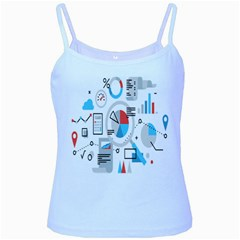 Science Mathematics Formula Baby Blue Spaghetti Tank by Mariart