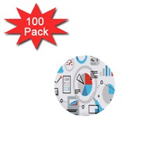 Science Mathematics Formula 1  Mini Buttons (100 Pack)