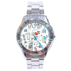 Science Mathematics Formula Stainless Steel Analogue Watch by Mariart
