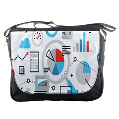 Science Mathematics Formula Messenger Bags by Mariart
