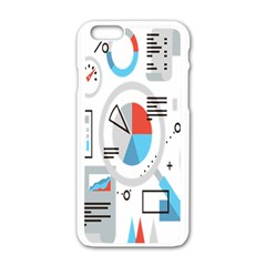 Science Mathematics Formula Apple Iphone 6/6s White Enamel Case by Mariart