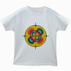Color Scope Kids White T Shirts by linceazul
