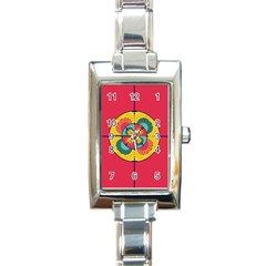 Color Scope Rectangle Italian Charm Watch by linceazul