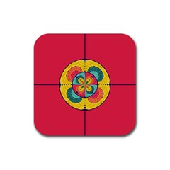 Color Scope Rubber Square Coaster (4 Pack)  by linceazul