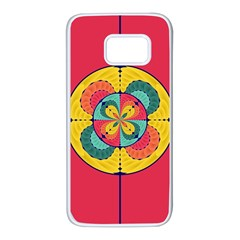 Color Scope Samsung Galaxy S7 White Seamless Case by linceazul