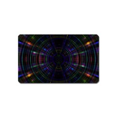 Psychic Color Circle Abstract Dark Rainbow Pattern Wallpaper Magnet (name Card)