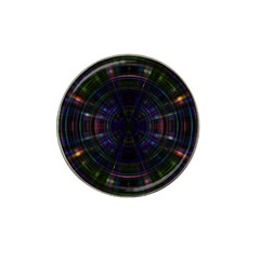 Psychic Color Circle Abstract Dark Rainbow Pattern Wallpaper Hat Clip Ball Marker by Mariart