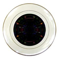 Psychic Color Circle Abstract Dark Rainbow Pattern Wallpaper Porcelain Plates