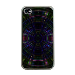 Psychic Color Circle Abstract Dark Rainbow Pattern Wallpaper Apple Iphone 4 Case (clear) by Mariart