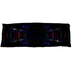 Psychic Color Circle Abstract Dark Rainbow Pattern Wallpaper Body Pillow Case Dakimakura (two Sides) by Mariart