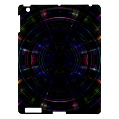 Psychic Color Circle Abstract Dark Rainbow Pattern Wallpaper Apple Ipad 3/4 Hardshell Case by Mariart