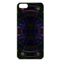 Psychic Color Circle Abstract Dark Rainbow Pattern Wallpaper Apple Iphone 5 Seamless Case (white) by Mariart