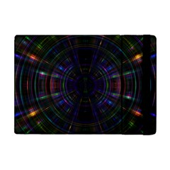 Psychic Color Circle Abstract Dark Rainbow Pattern Wallpaper Apple Ipad Mini Flip Case by Mariart