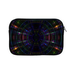 Psychic Color Circle Abstract Dark Rainbow Pattern Wallpaper Apple Ipad Mini Zipper Cases by Mariart