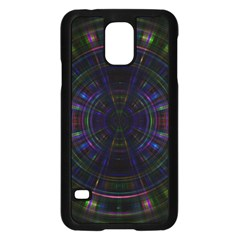 Psychic Color Circle Abstract Dark Rainbow Pattern Wallpaper Samsung Galaxy S5 Case (black) by Mariart