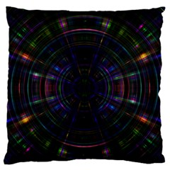 Psychic Color Circle Abstract Dark Rainbow Pattern Wallpaper Large Flano Cushion Case (one Side) by Mariart
