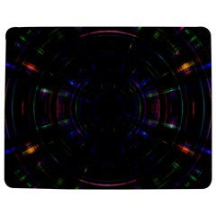 Psychic Color Circle Abstract Dark Rainbow Pattern Wallpaper Jigsaw Puzzle Photo Stand (rectangular)