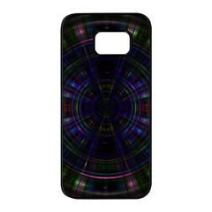 Psychic Color Circle Abstract Dark Rainbow Pattern Wallpaper Samsung Galaxy S7 Edge Black Seamless Case by Mariart