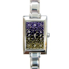 Space Star Light Gold Blue Beauty Rectangle Italian Charm Watch by Mariart