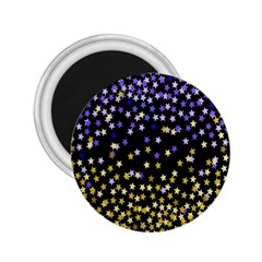 Space Star Light Gold Blue Beauty 2 25  Magnets by Mariart