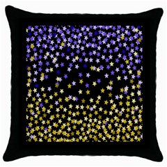 Space Star Light Gold Blue Beauty Throw Pillow Case (black) by Mariart