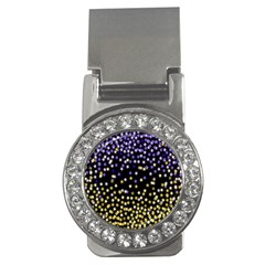 Space Star Light Gold Blue Beauty Money Clips (cz)  by Mariart