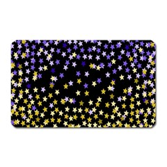 Space Star Light Gold Blue Beauty Magnet (rectangular) by Mariart