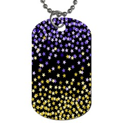 Space Star Light Gold Blue Beauty Dog Tag (one Side) by Mariart