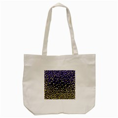 Space Star Light Gold Blue Beauty Tote Bag (cream) by Mariart