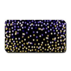 Space Star Light Gold Blue Beauty Medium Bar Mats by Mariart