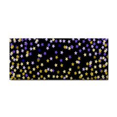 Space Star Light Gold Blue Beauty Cosmetic Storage Cases by Mariart