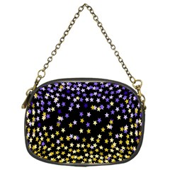Space Star Light Gold Blue Beauty Chain Purses (one Side)  by Mariart