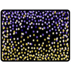 Space Star Light Gold Blue Beauty Fleece Blanket (large)  by Mariart