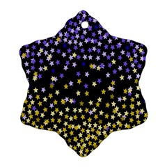 Space Star Light Gold Blue Beauty Ornament (snowflake)
