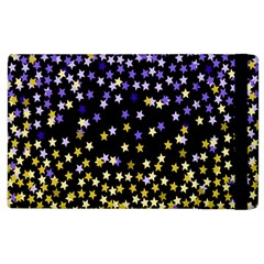 Space Star Light Gold Blue Beauty Apple Ipad 3/4 Flip Case by Mariart