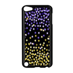 Space Star Light Gold Blue Beauty Apple Ipod Touch 5 Case (black) by Mariart