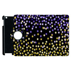 Space Star Light Gold Blue Beauty Apple Ipad 2 Flip 360 Case by Mariart