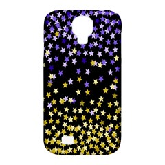 Space Star Light Gold Blue Beauty Samsung Galaxy S4 Classic Hardshell Case (pc+silicone) by Mariart