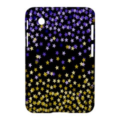 Space Star Light Gold Blue Beauty Samsung Galaxy Tab 2 (7 ) P3100 Hardshell Case  by Mariart