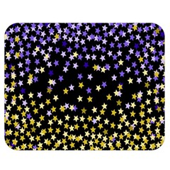 Space Star Light Gold Blue Beauty Double Sided Flano Blanket (medium)  by Mariart
