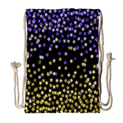 Space Star Light Gold Blue Beauty Drawstring Bag (large) by Mariart