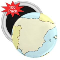 Spain Map Modern 3  Magnets (100 Pack) by Mariart