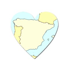 Spain Map Modern Heart Magnet by Mariart