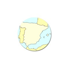 Spain Map Modern Golf Ball Marker (4 Pack) by Mariart